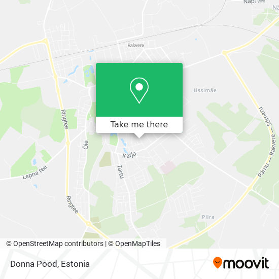 Donna Pood map