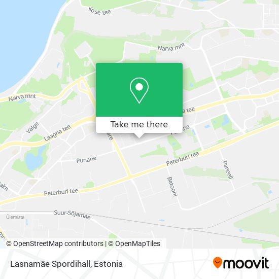 Lasnamäe Spordihall map