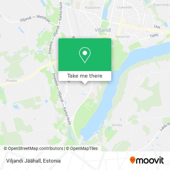 Viljandi Jäähall map