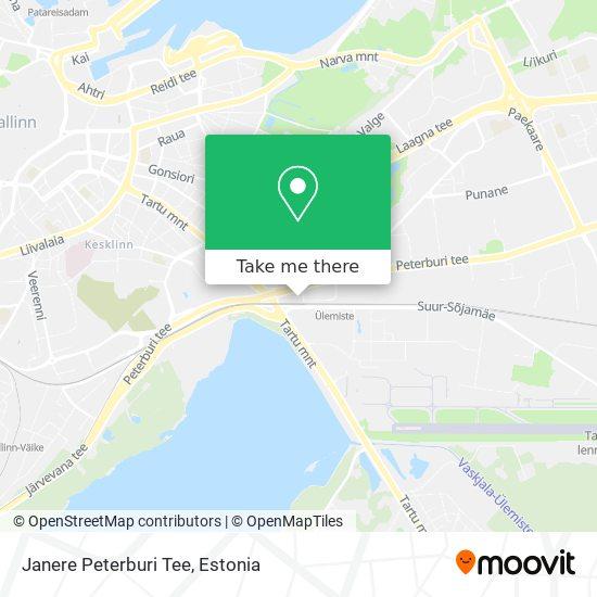 Janere Peterburi Tee map