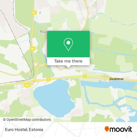 Euro Hostel map