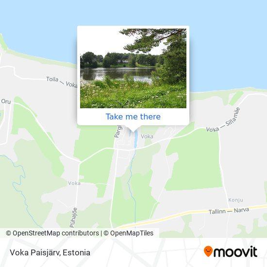 Voka Paisjärv map