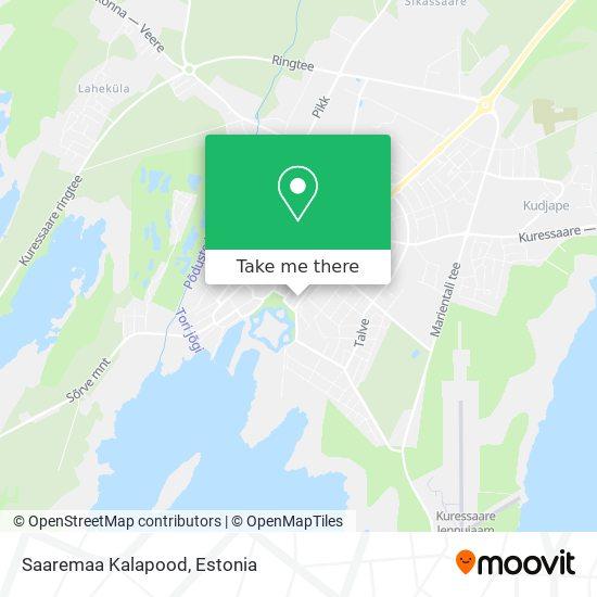 Saaremaa Kalapood map
