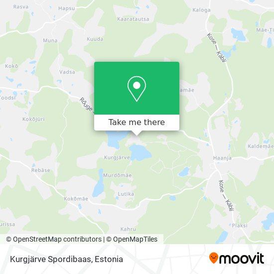Kurgjärve Spordibaas map