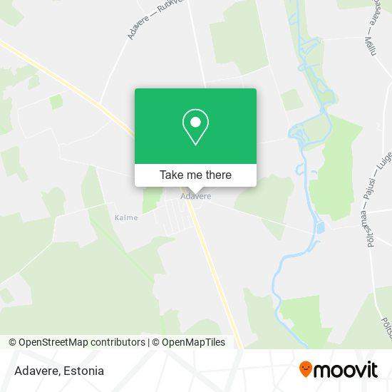 Adavere map