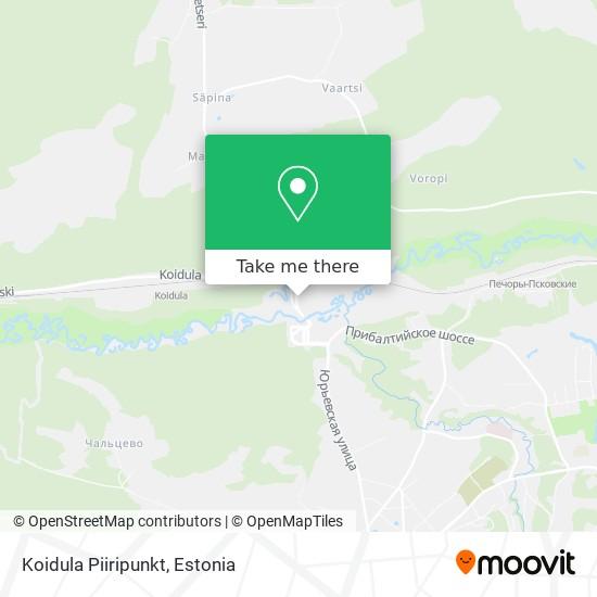 Koidula Piiripunkt map