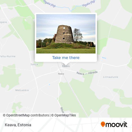 Keava map
