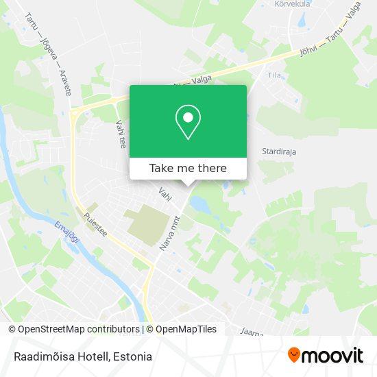 Raadimõisa Hotell map