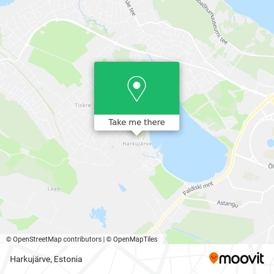 Harkujärve map