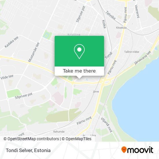 Tondi Selver map