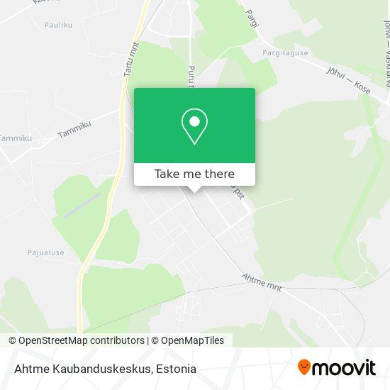 Ahtme Kaubanduskeskus map