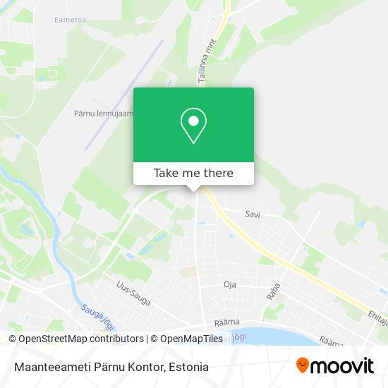 Lääne Regionaalse Maanteeameti Liiklusregistri Pärnu Büroo map