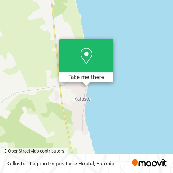 Kallaste - Laguun Peipus Lake Hostel map