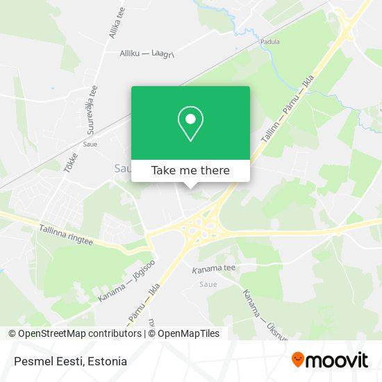 Pesmel Eesti map