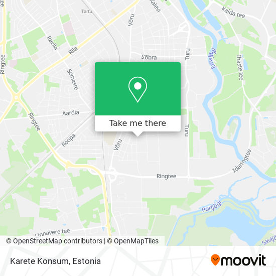 Karete Konsum map