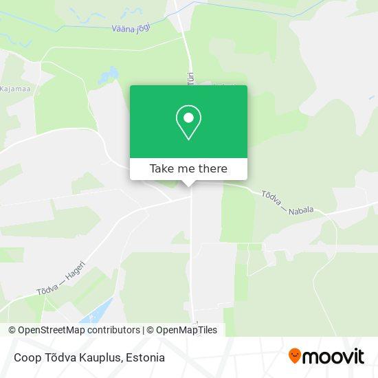 Tõdva Pood map