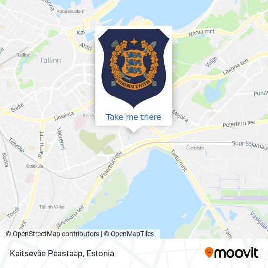 Kaitseväe Peastaap map