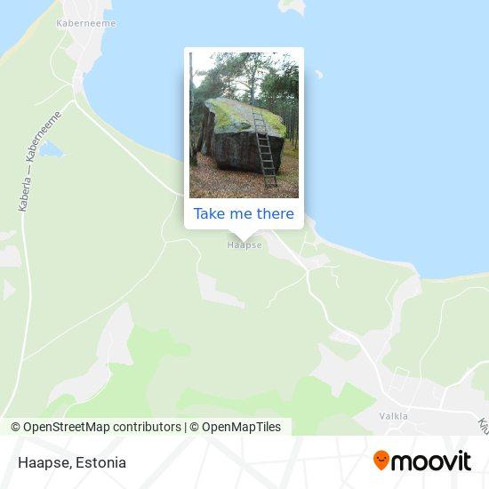 Haapse map