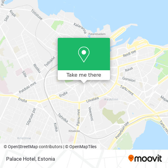 Palace Hotel map
