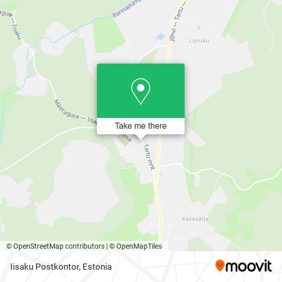Iisaku Postkontor map