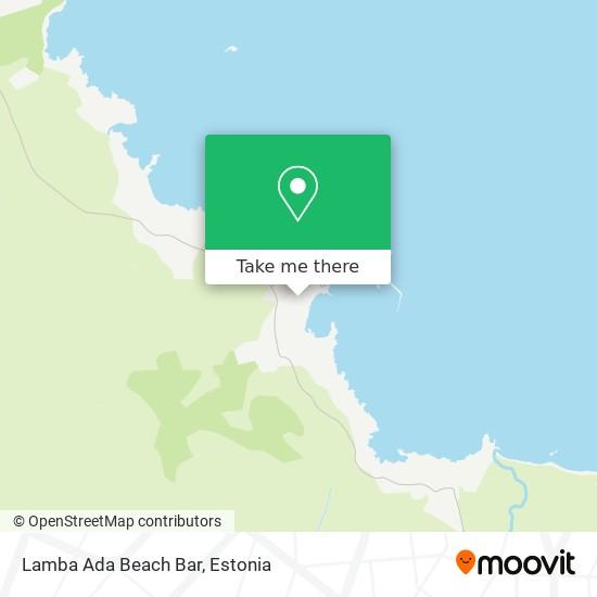 Lamba Ada Beach Bar map