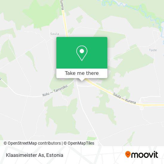 Klaasimeister As map