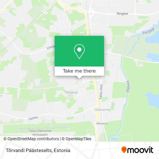 Päästeameti Tõrvandi Päästekomando map