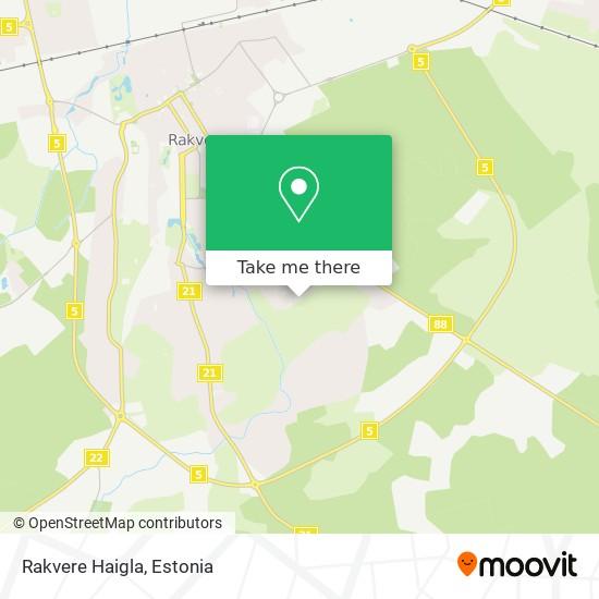 Rakvere Haigla map