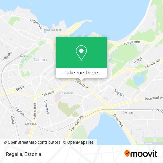 Regalia map