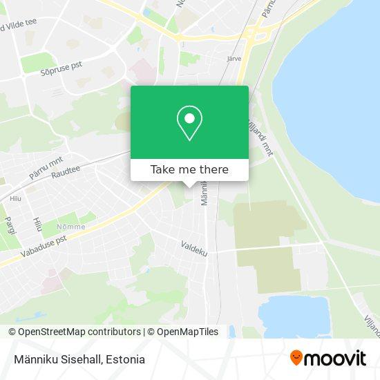 Männiku Sisehall map