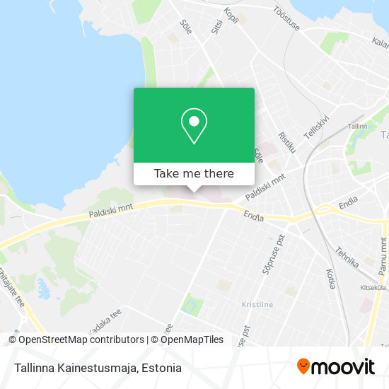 Tallinna Kainestusmaja map