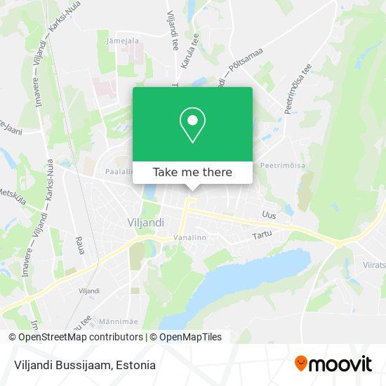 Viljandi Bussijaam map