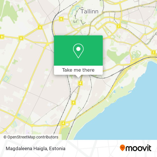 Magdaleena Haigla map