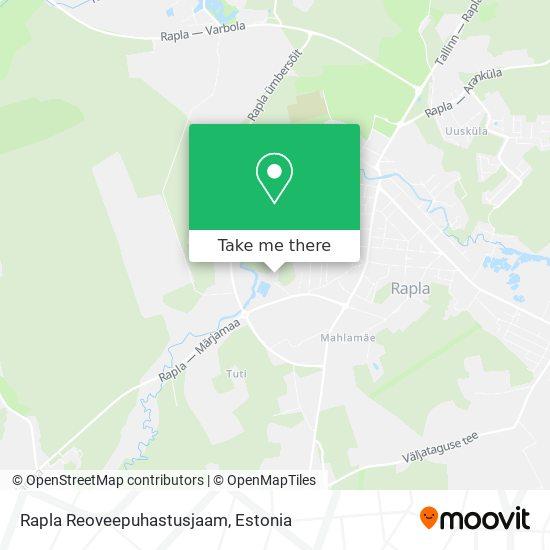 Rapla Reoveepuhastusjaam map