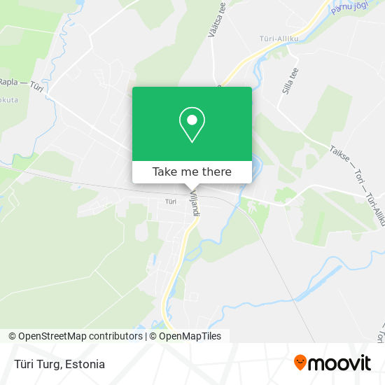 Türi Turg map
