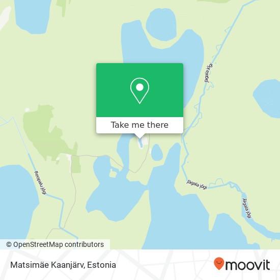 Matsimäe Kaanjärv map