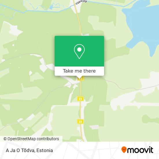 A Ja O Tõdva map