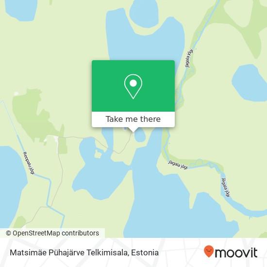 Matsimäe Pühajärve Telkimisala map