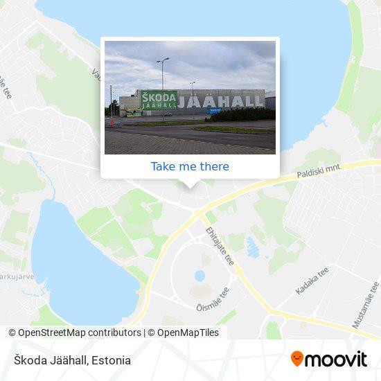 Škoda Jäähall map