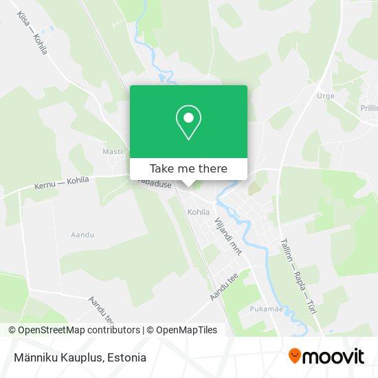Карта Männiku Kauplus