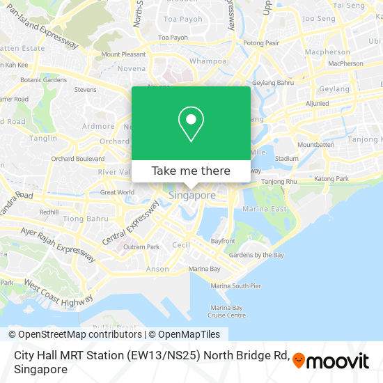 How To Get To City Hall Mrt Station Ew13 Ns25 North Bridge Rd In Singapore By Bus Or Metro Moovit