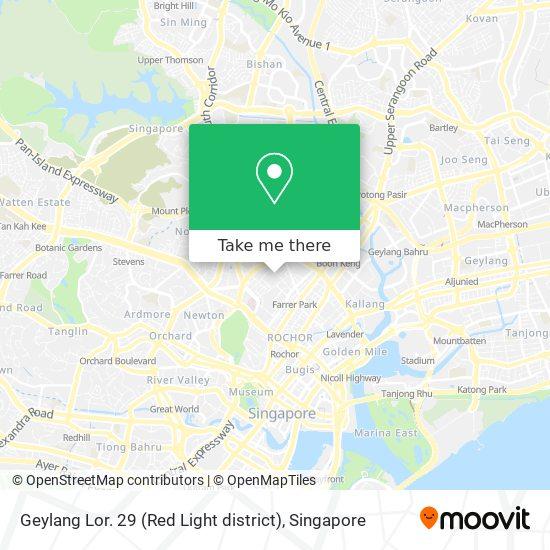 Geylang Lor. 29 (Red Light district) map