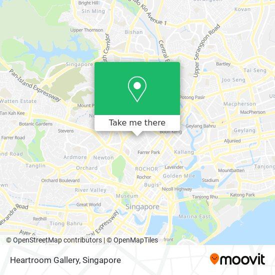 Heartroom Gallery map
