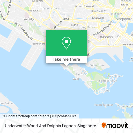 Underwater World And Dolphin Lagoon map