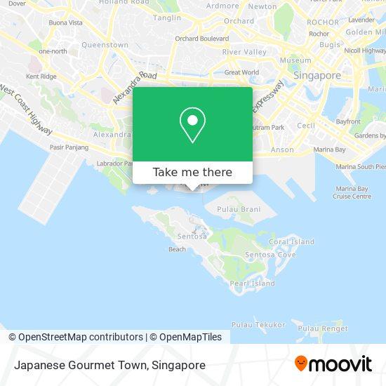 Japanese Gourmet Town map