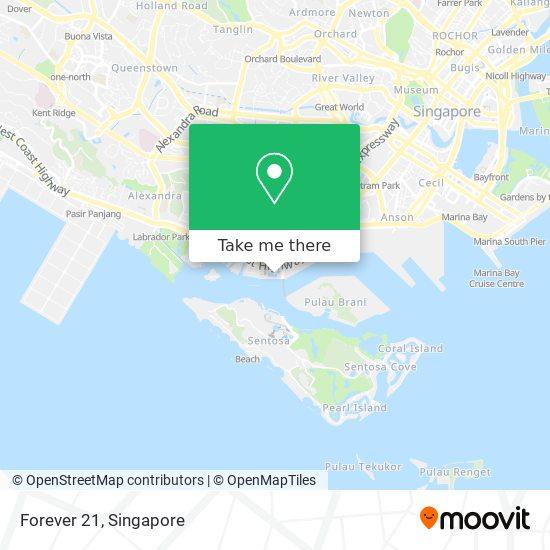 Forever 21 map