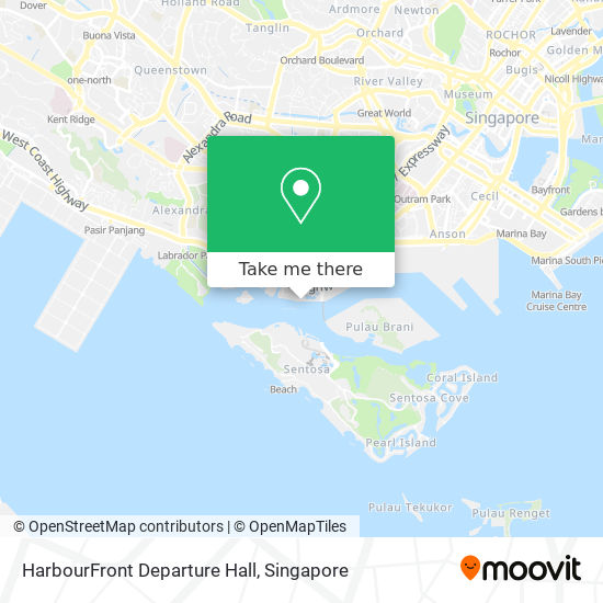 HarbourFront Departure Hall map