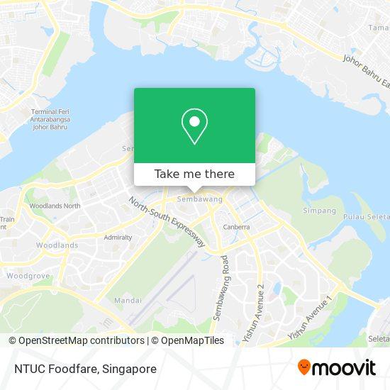 NTUC Foodfare map