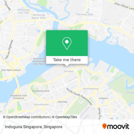 Indoguna Singapore map