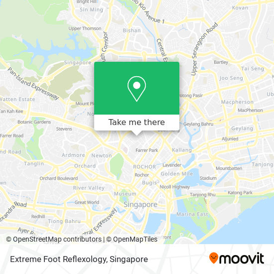Extreme Foot Reflexology map